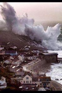 Stormen Hercules i Sennen. Foto: Ricky Salter.