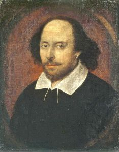 Klassiskt porträtt av Shakespeare från Wikipedia