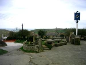 Puben ligger alldeles i början av byn.