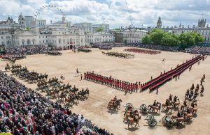 Så här ser du sällan Horse Guards Parade Foto; Corporal Paul Shaw