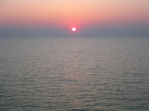 Sommarkväll på Nordsjön