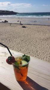 Pimms på stranden.