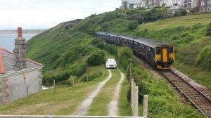 Med tåg genom England - här Cornwall
