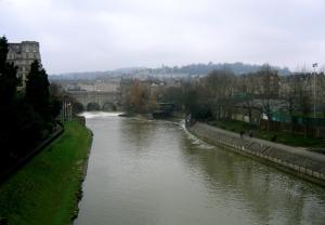 Pulteneybron och floden Avon