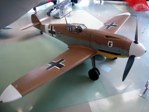 Här finns inte bara allierade plan. Messerschmitt Bf 109