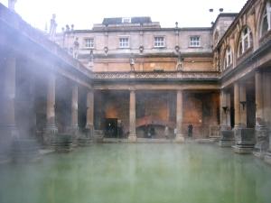 Det ryker på Roman Baths