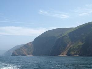 Mellan Combe Martin och Lynmouth kastar sig klipporna ner i Bristol Channel.