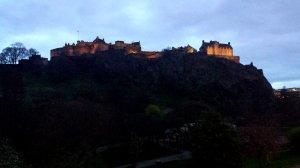 Slottet tronar över staden