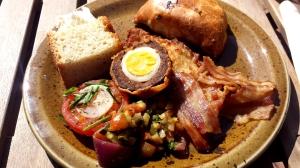 Scotch egg, bacon, pasty...