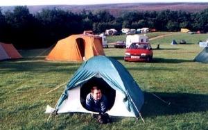 Med heden bakom campingen.